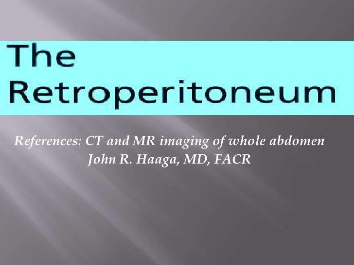 Retroperitonium