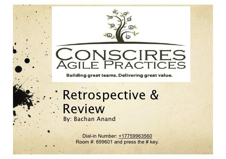 Retrospective & review