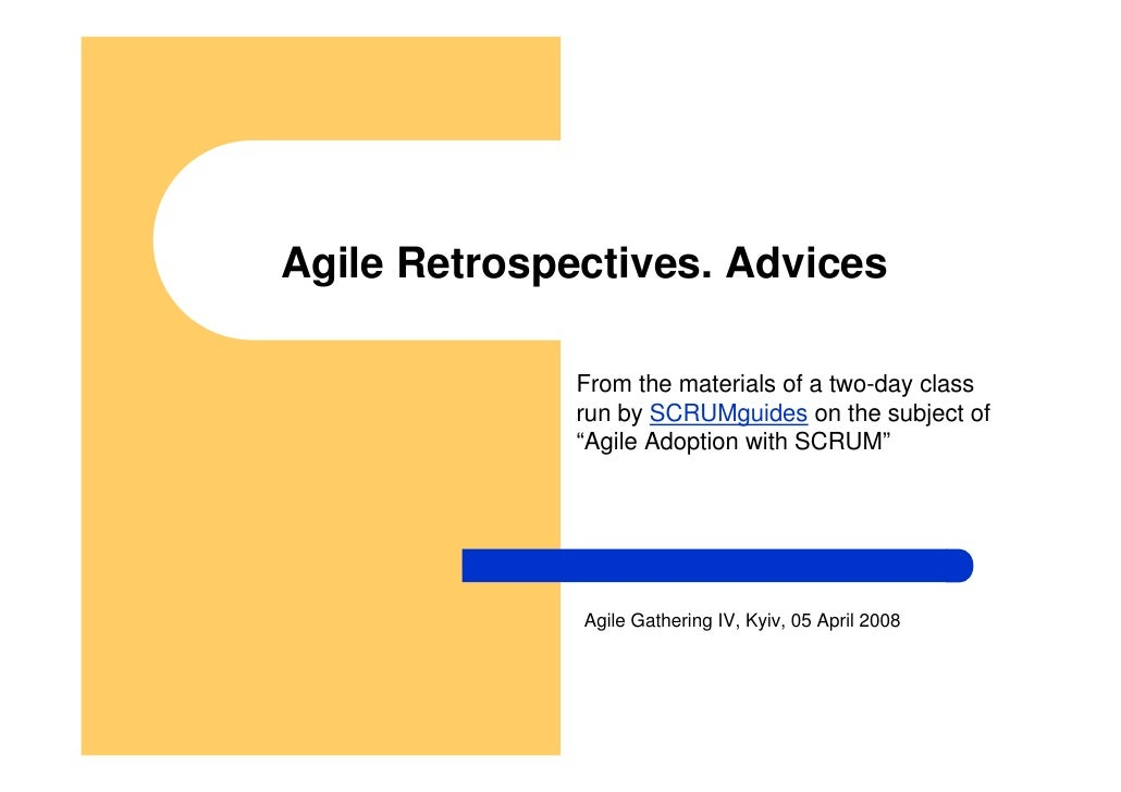 Retrospectives Advices
