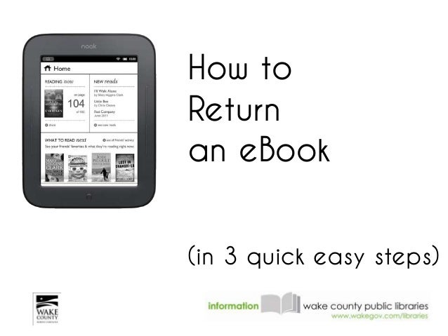 How toReturnan eBook(in 3 quick easy steps)