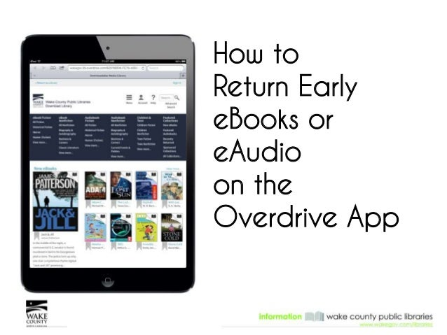 How to Return Early eBooks or eAudio on the Overdrive App