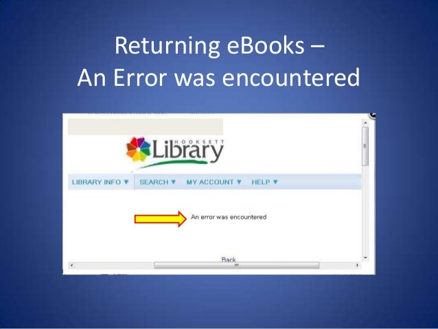 Returning 3m ebooks – an error was encountered