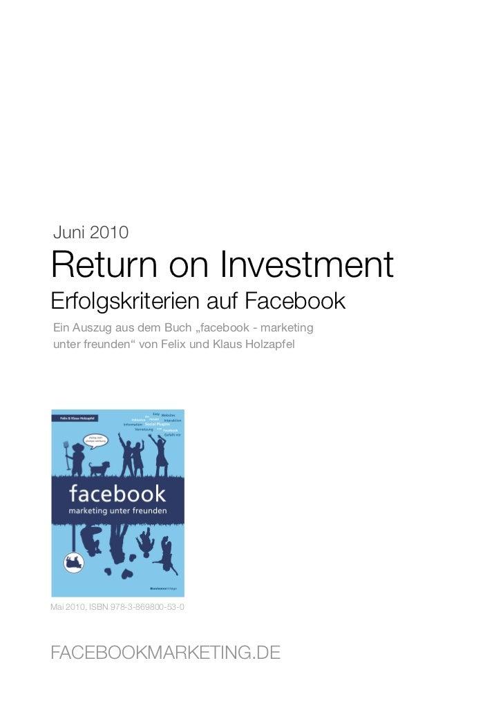 Return on investment_facebook_erfolgskritieren_erfolgsmessung