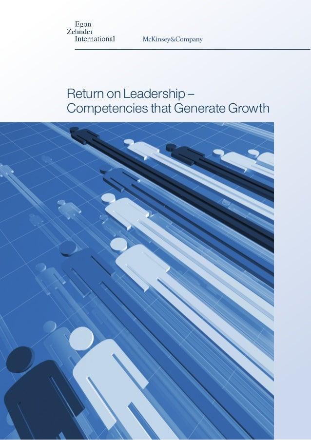 Return on Leadership – Competencies that Generate Growth