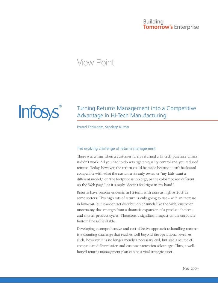 management control system of infosys To establish ai-driven command center for global process management infection control information systems and services we chose infosys as our partner to.