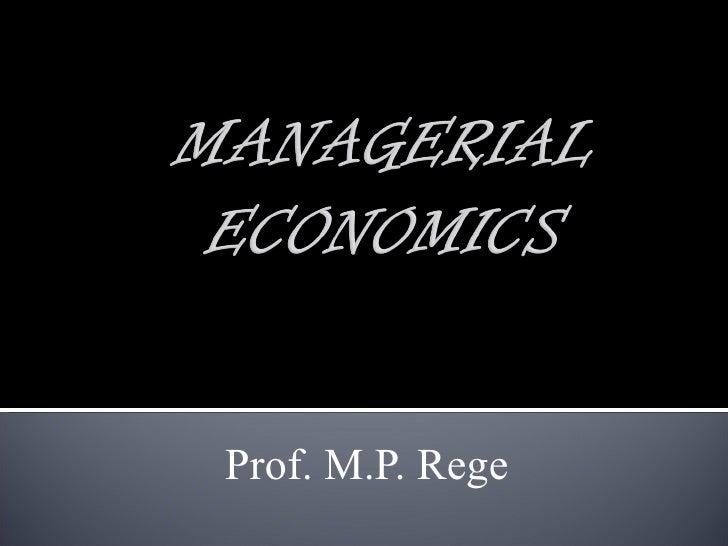 Prof. M.P. Rege