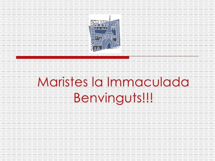Maristes la Immaculada Benvinguts!!!