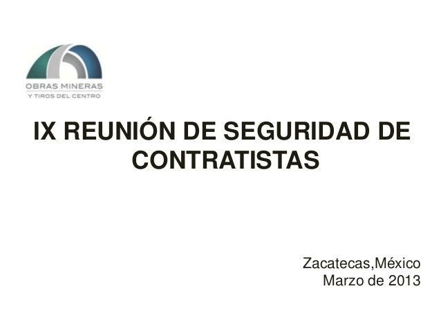 Reunión Seguridad Contratistas 2013