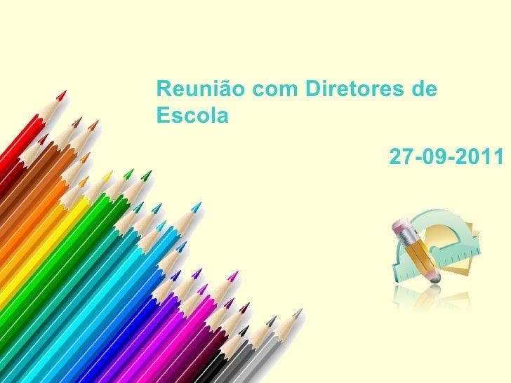 Reunião diretores 27 09