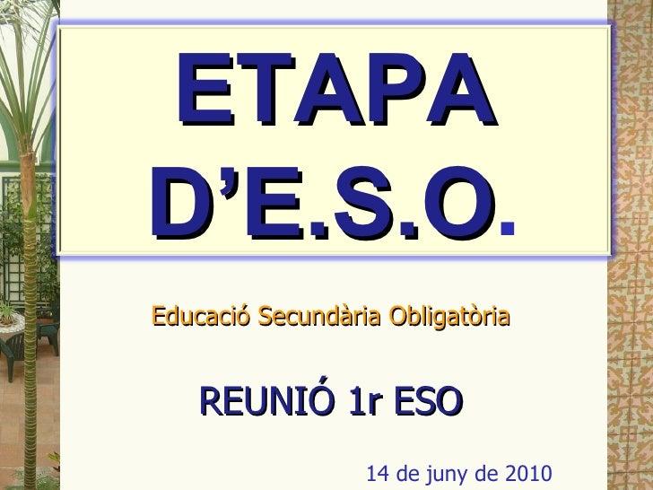 Reunio ESO 14 juny2010