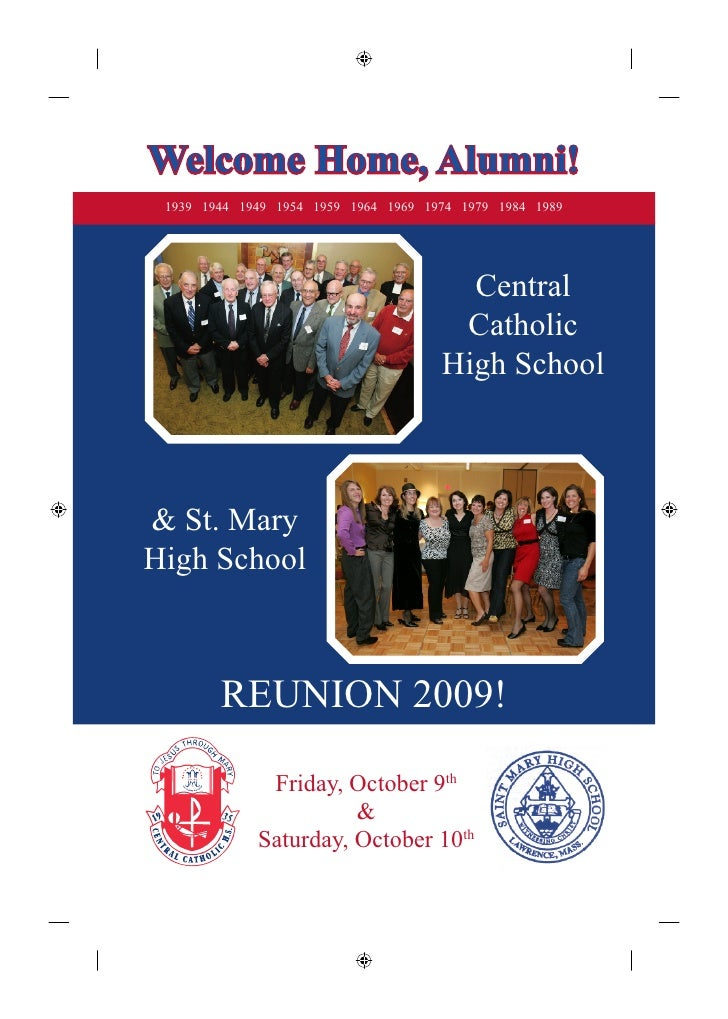 Welcome Home, Alumni!  1939 1944 1949 1954 1959 1964 1969 1974 1979 1984 1989                                             ...