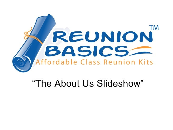 Reunion Basics
