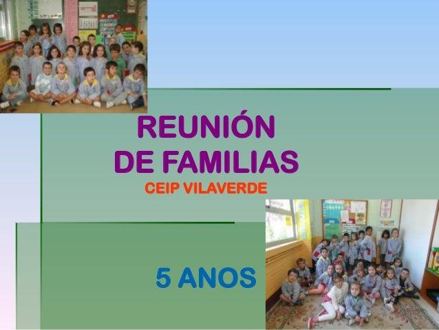 REUNIÓN DE FAMILIAS CEIP VILAVERDE 5 ANOS