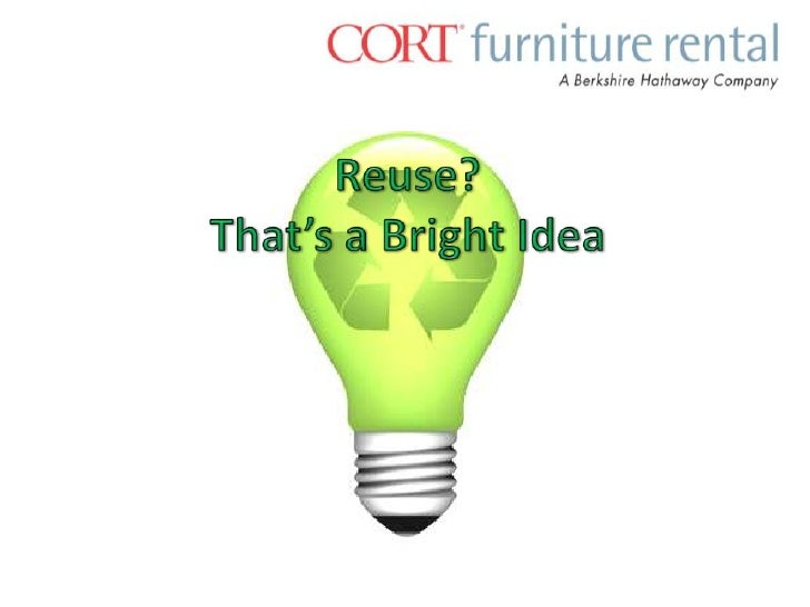 Reuse?That's a Bright Idea <br />