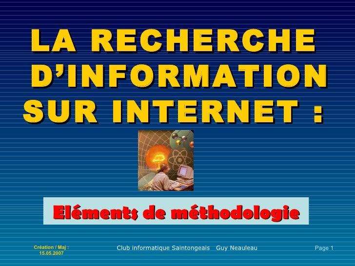 La recherche d\'information sur internet