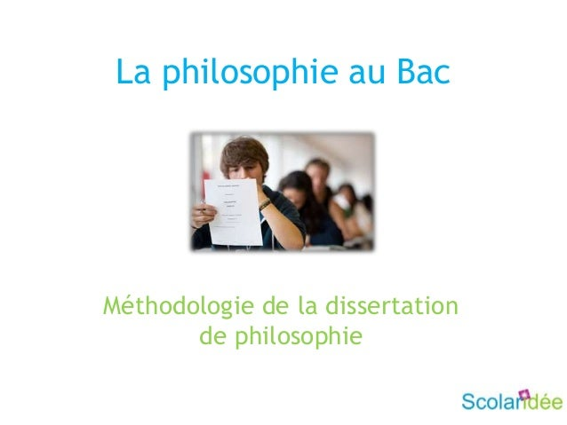 La philosophie au BacMéthodologie de la dissertationde philosophie