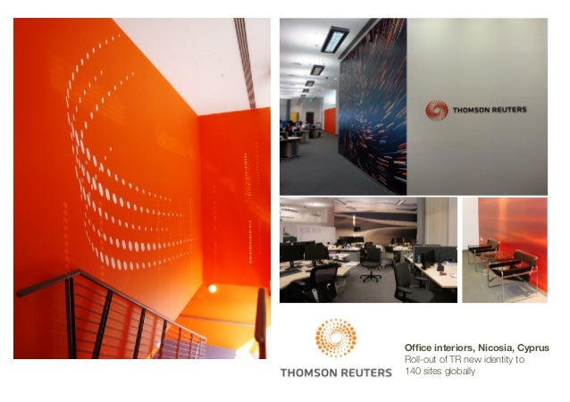 Office interiors, Nicosia, Cyprus Roll-out of TR new identity to 140 sites globally