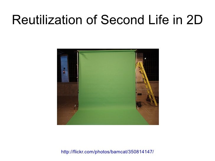 Reutilization of Second Life in 2D             http://flickr.com/photos/bamcat/350814147/