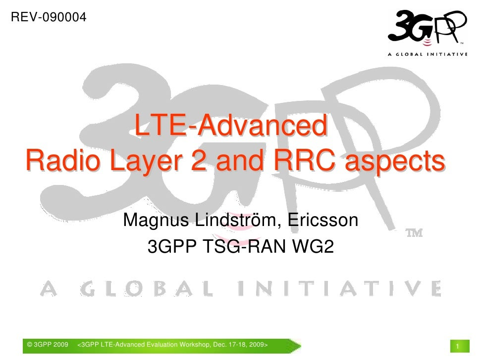 REV-090004             LTE-Advanced  Radio Layer 2 and RRC aspects                              Magnus Lindström, Ericsson...