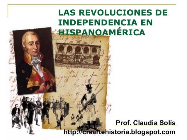 Revoluciones de independencia en Hispanoamérica powerpoint