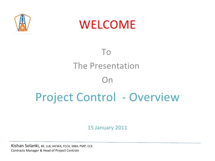 Project Control- Overview Presentation   Tafseer