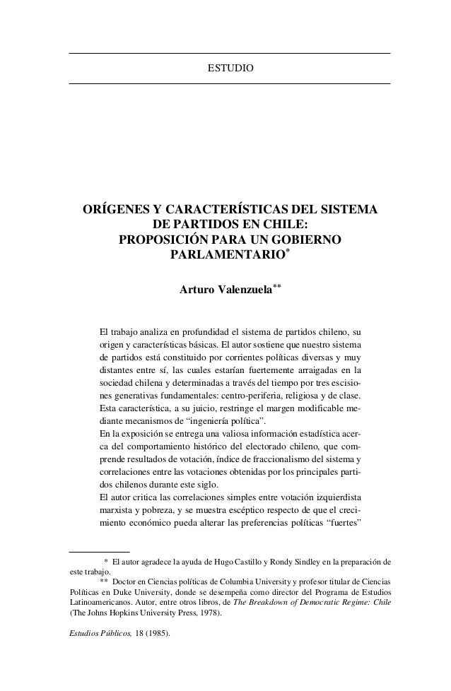 Estudios Públicos, 18 (1985).ESTUDIO** El autor agradece la ayuda de Hugo Castillo y Rondy Sindley en la preparación deest...