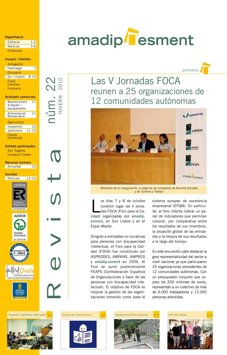 Revista amadip.esment. Nº 22 . Hivern