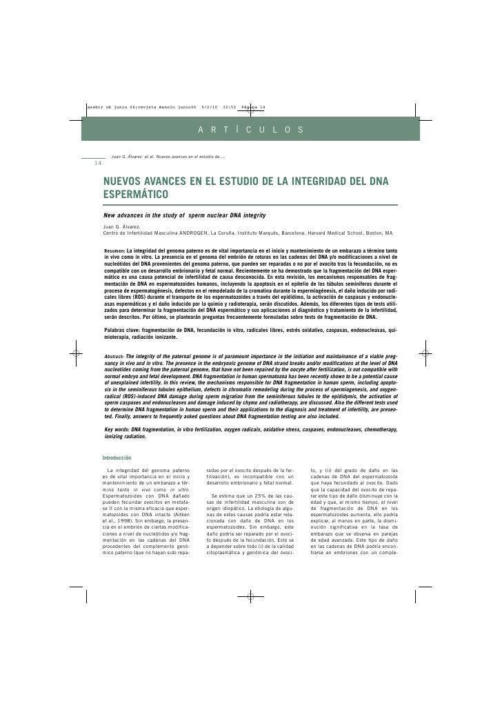 A R T Í C U L O S           Juan G. Álvarez et al. Nuevos avances en el estudio de.... 14        NUEVOS AVANCES EN EL ESTU...