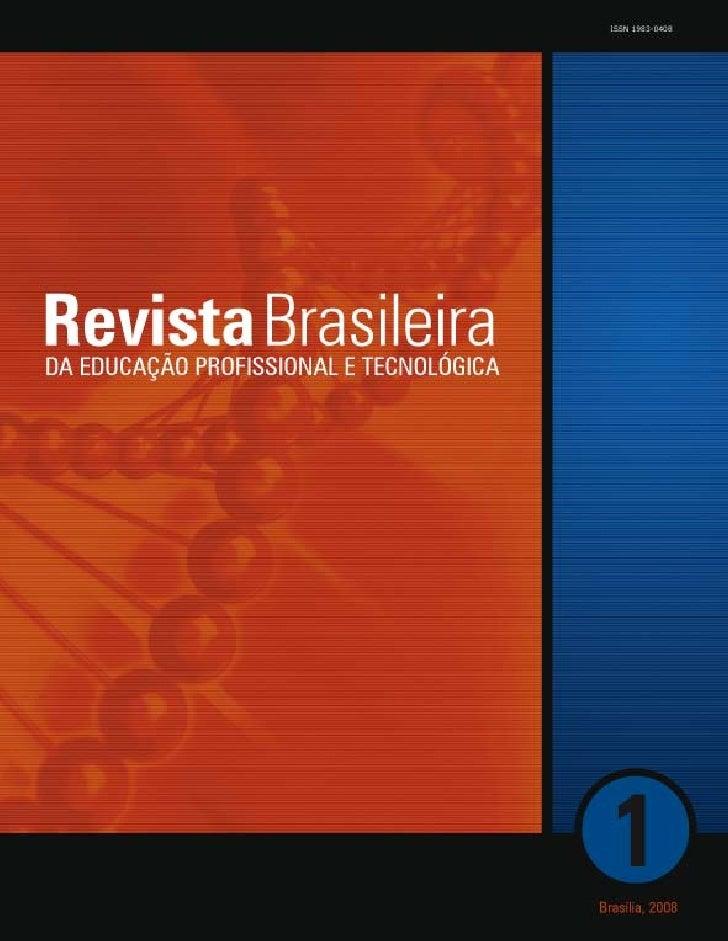REVISTA BRASILEIRA DA EDUCAÇÃO PROFISSIONAL E TECNOLÓGICA