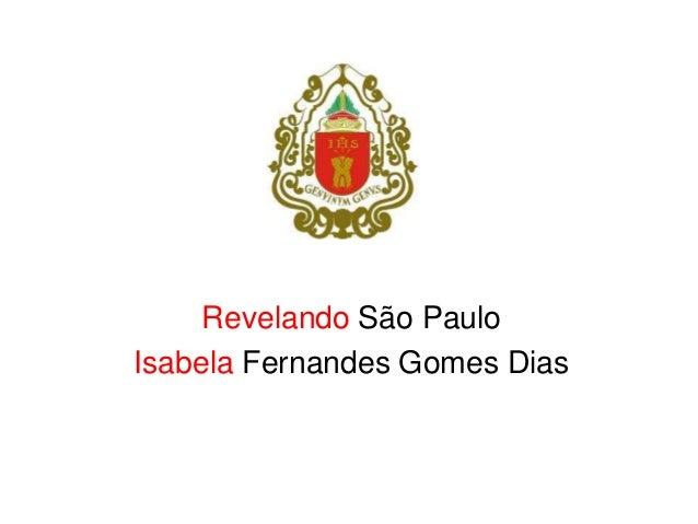 Revelando São Paulo Isabela Fernandes Gomes Dias