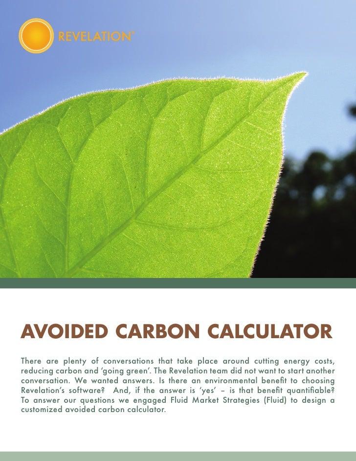 AVOIDED CARBON CALCULATOR