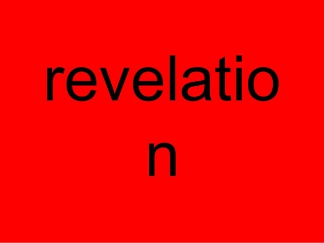 Revelation in folding