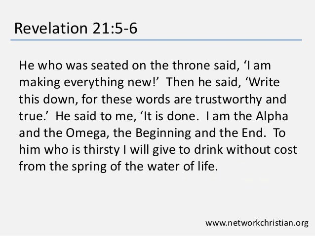 Revelations 21 5 Revelation 21 5 6 he Who Was
