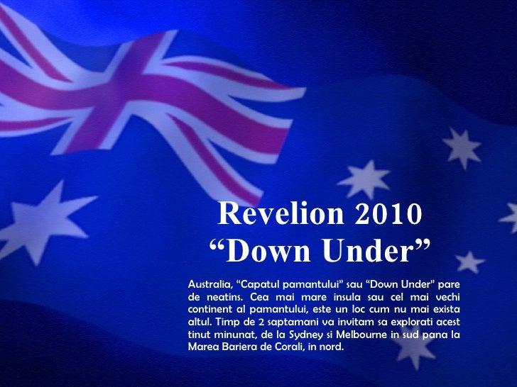 Revelion 2010 Australia Agentii