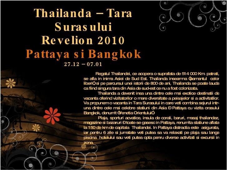 Revelion 2010 Thailanda