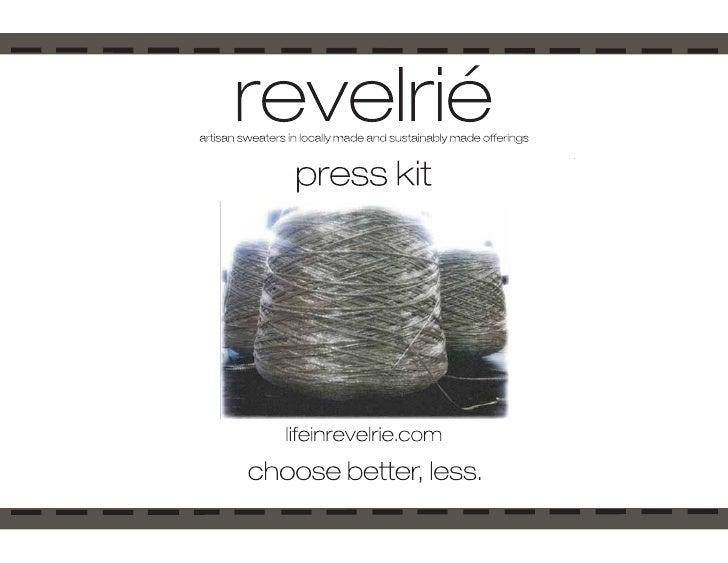 Revelrié Press Kit
