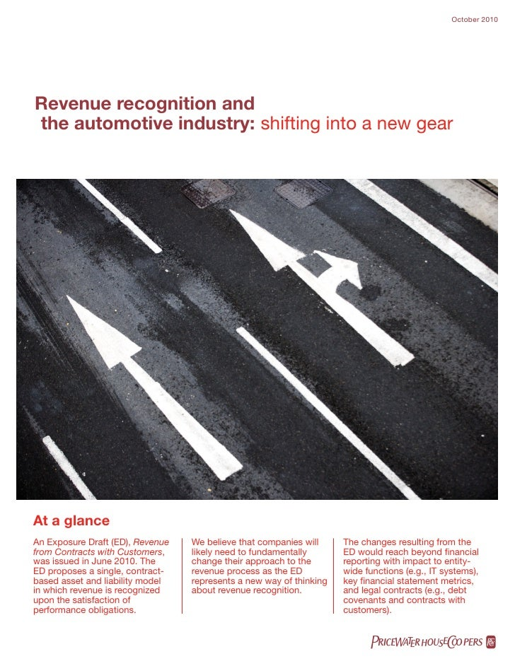 Revenue recognition-auto-industry