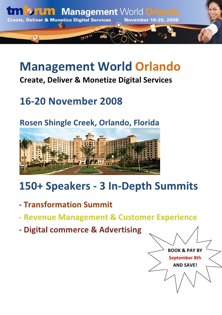Management World Orlando        Create, Delive...