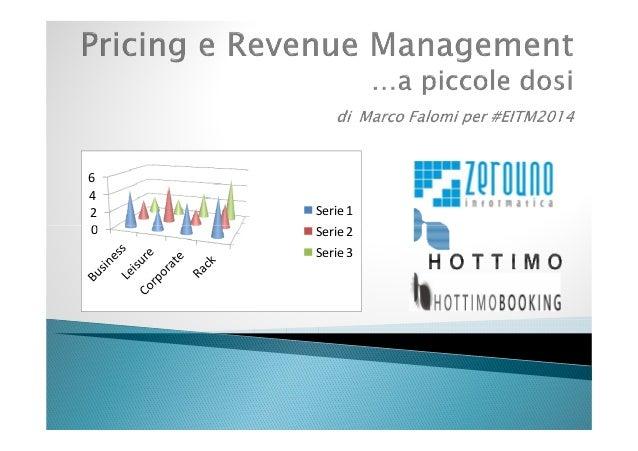 Pricing e Revenue management... a piccole dosi