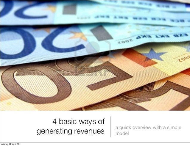 4 basic revenue models