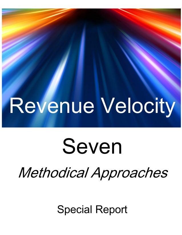 Revenue Velocity     Seven    Special Report