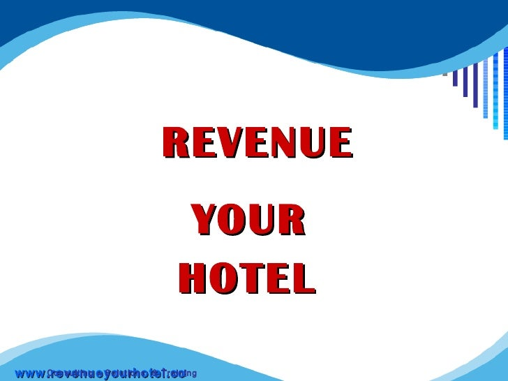 Revenue Your Hotel distance learning Course
