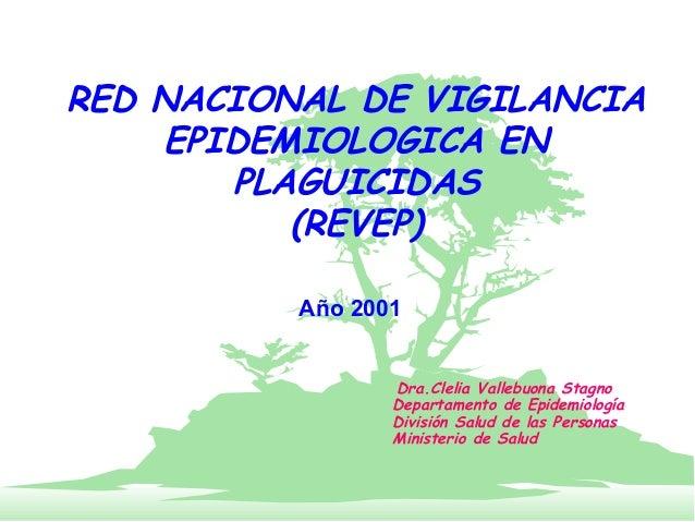 RED NACIONAL DE VIGILANCIA    EPIDEMIOLOGICA EN       PLAGUICIDAS          (REVEP)          Año 2001                 Dra.C...