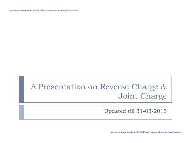 Reverce charge