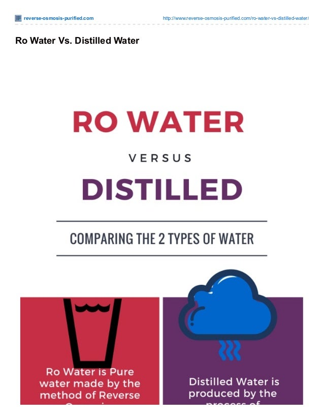 is distilled water the same as purified water