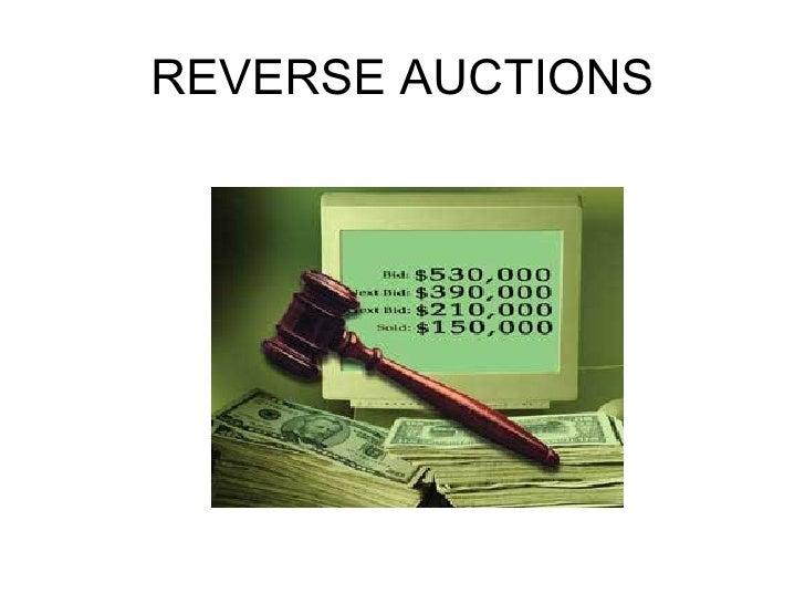 REVERSE AUCTIONS