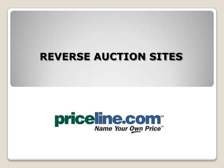 Reverse Auction Site