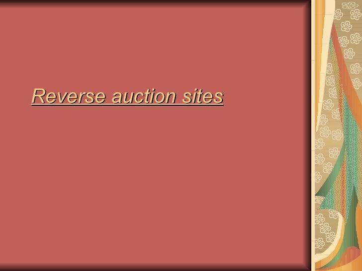 Reverse auction sites