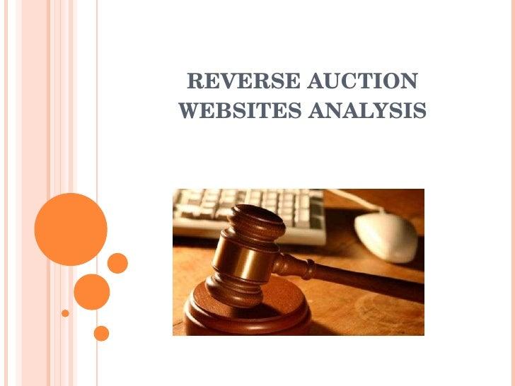 REVERSE AUCTION WEBSITES ANALYSIS