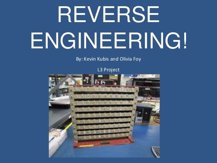 reverse engineering project Life cycle engineering mechanical component reverse engineering project examples.